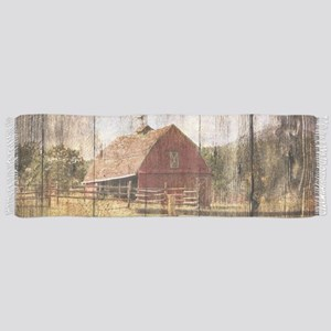 western country red barn Scarf