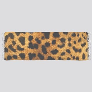 girly trendy leopard print Scarf