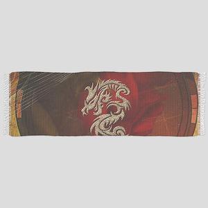 Awesome dragon, tribal design Tassel Scarf