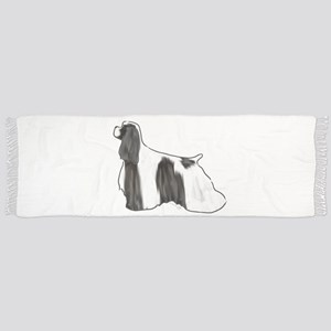 black and white american cocker spaniel Scarf