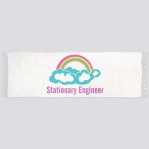 Stationary Engineer Cloud Rainbow Scarf