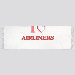 I Love Airliners Tassel Scarf