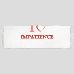 I Love Impatience Tassel Scarf