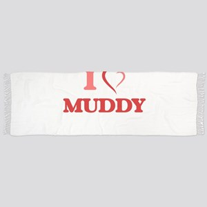 I Love Muddy Tassel Scarf
