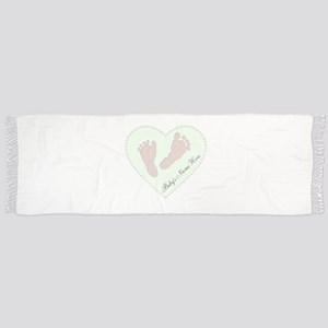 Baby Girl's Name in Heart Scarf