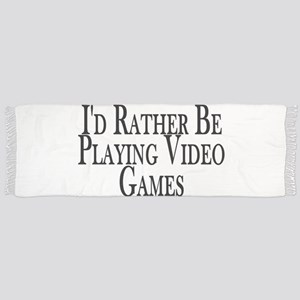 Rather Play Video Games Scarf