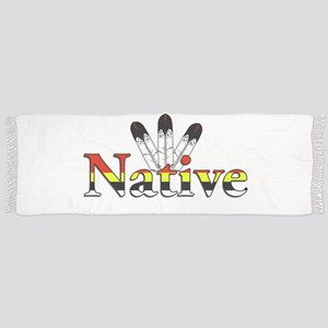 Native text with Eagle Feathers Scarf