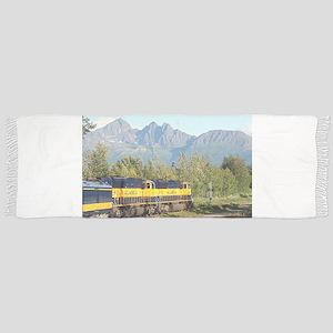Alaska Railroad locomotive engine & mountain Scarf