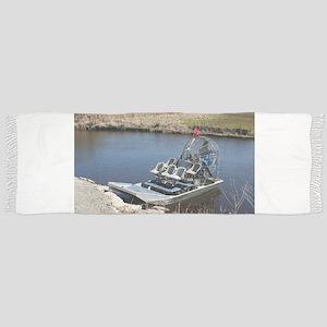 Florida swamp airboat 2 Tassle Scarf