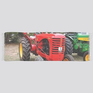 Old red tractor Scarf