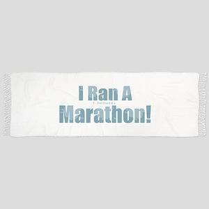 I Ran a Marathon Tassel Scarf