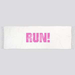 RUN - Pink Tassel Scarf