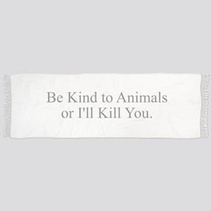 Be Kind to Animals Tassel Scarf