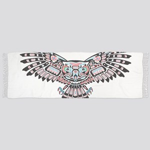 Mystic Owl in Native American Style Scarf