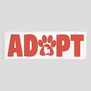 Cute Pets Paw Cat Dog Adopt Red Tassel Scarf