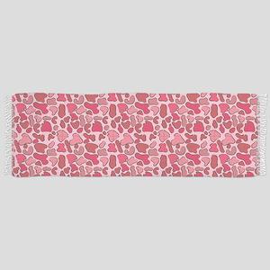 Pink Leopard Outline Scarf