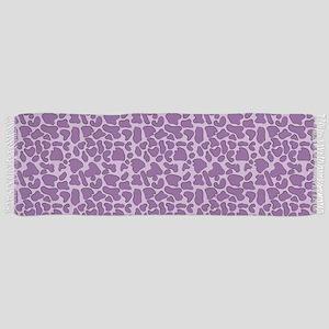 Purple Leopard Outline Scarf