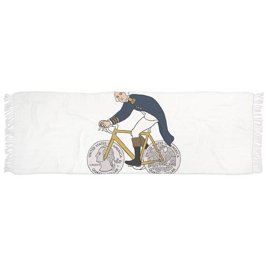 George Washington On Bike With Quarter Wheels