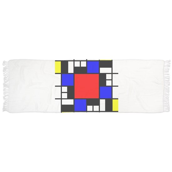 Depressed Mondrian Heart Red Blue Yellow Black