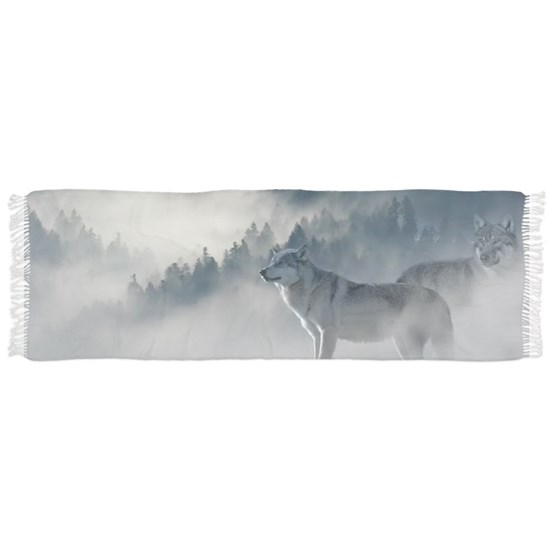 Beautiful Wolves In The Winter