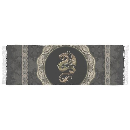 Wonderful dragon, vintage background