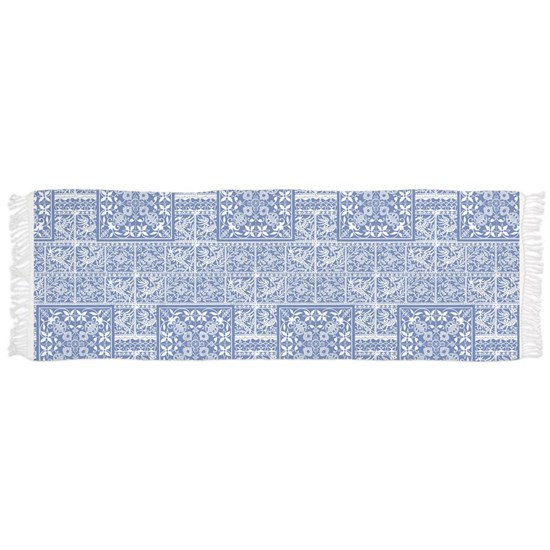 Blue and White Medieval Pattern