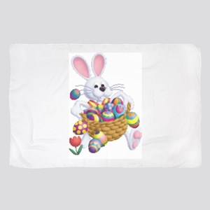 Easter Bunny With Basket Of Eggs Sheer Scarf