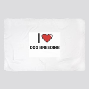 I Love Dog Breeding Digital Design Scarf