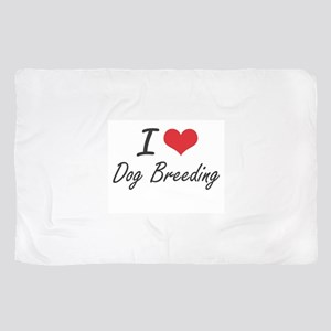 I Love Dog Breeding artistic Design Scarf