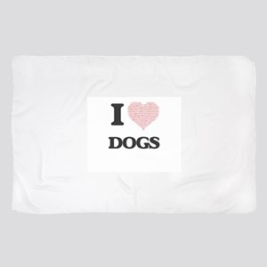 I love Dogs (Heart Made from Words) Scarf