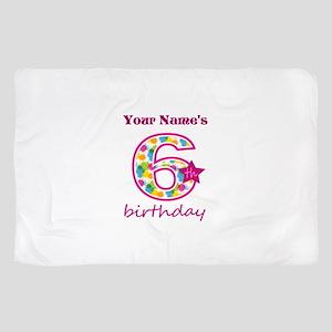 6th Birthday Splat - Personalized Scarf