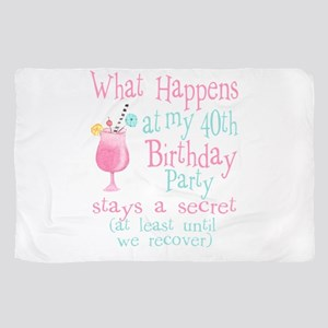 40th Birthday Party Sheer Scarf