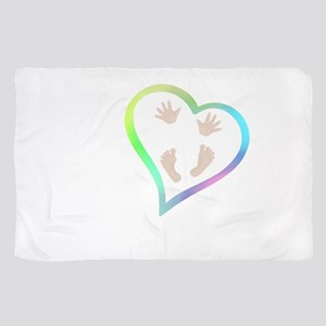 Baby Hands and Feet in Heart Sheer Scarf