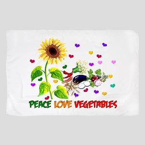 Peace Love Vegetables Sheer Scarf