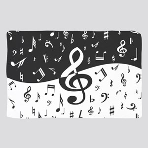 Stylish random musical notes Sheer Scarf