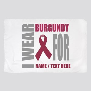 Burgundy Awareness Ribbon Customized Sheer Scarf