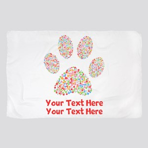 Dog Paw Print Customize Sheer Scarf