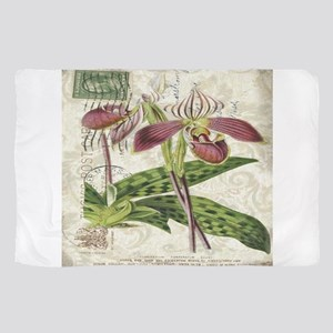 vintage orchid french botanical Sheer Scarf