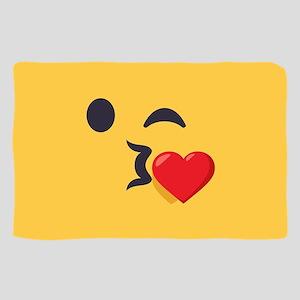Winky Kiss Emoji Face Sheer Scarf