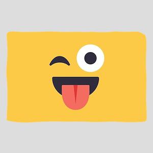 Winky Tongue Emoji Face Sheer Scarf