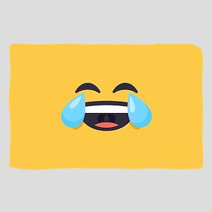 Cry Laughing Emoji Face Sheer Scarf