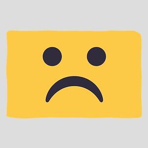Frowning Emoji Face Sheer Scarf