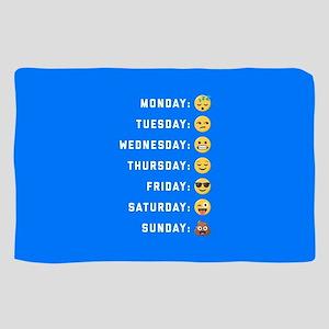 Emoji Days of the Week Sheer Scarf