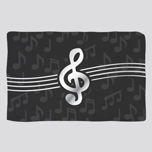 Stylish clef on musical note backgroun Sheer Scarf