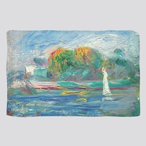 The Blue River by Auguste Renoir Scarf