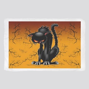 Black Cat Evil Angry Funny Character Sheer Scarf