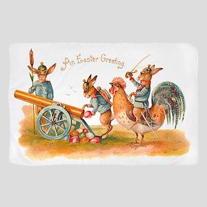Easter Bunny War Vintage Sheer Scarf