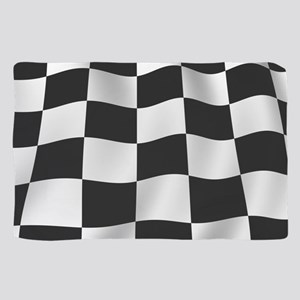Black Racing Flag Checkerboard Scarf