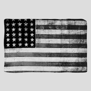 American Vintage Flag Black and White horizo Scarf