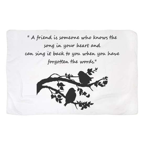Friend Quote Song In My Heart Birds Scarf By Countrymousestudio